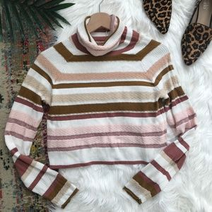 Free People • Striped Turtleneck Pullover Sweater